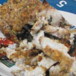 Pecan Crusted  Chicken Florentine