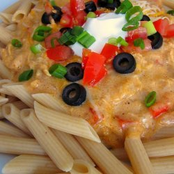 Chicken Enchilada Pasta Enchilada