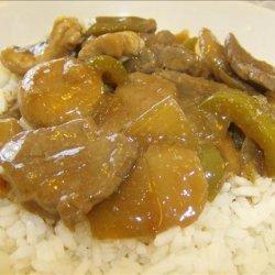 Pepper, steak and rice