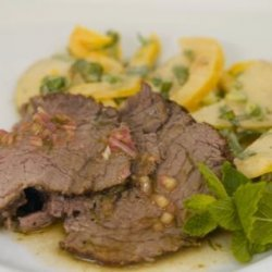 Tea-Smoked Beef Tenderloin With Pear Salad recipe