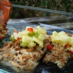 Grilled Mahi Mahi W. Honey-Macadamia Crust and Pineapple-Ginger