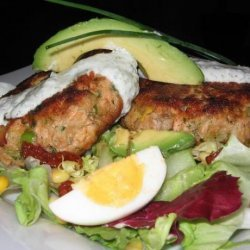 Salmon Burgers/Patties With a Herb Sauce