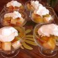 Pound Cake With Tropical Fruit and Rum-Apricot Sauce