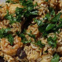 Rice With Chorizo, Shrimp and Green Olives
