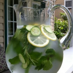 Cucumber and Rosemary Spa Water