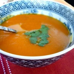 Moroccan Spiced Squash and Carrot Soup