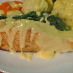Crusted Fish With Wine-Mustard Sauce recipe