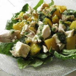Chicken Salad With Nectarines in Mint Vinaigrette