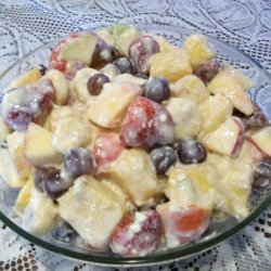 Marinated Fruit With Coconut Dressing recipe