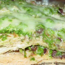 Spinach and Corn Tortilla Bake