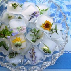 Flowers and Posies Frozen in Time! Fresh Floral Ice Cubes recipe