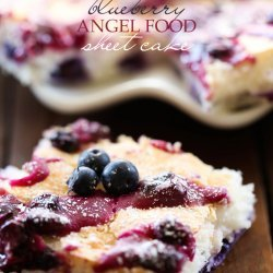 Blueberry Angel Food Cake