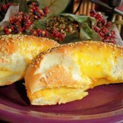 Dangerboy's Cheesy Bagel Sandwich