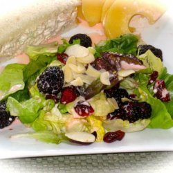 Tossed Green Salad With Grapefruit-Pomegranate Dressing