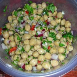 Chickpea Salad With Garlic-Cumin Vinaigrette