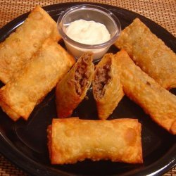 Easy Steak and Cheese Egg Rolls recipe