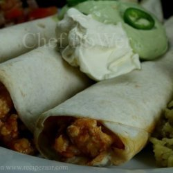 Cheesy Chicken Rice Burritos