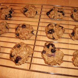 Banana Oatmeal Blueberry Cookies