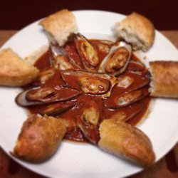 Mussels in Red Wine Sauce recipe