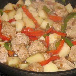 Country Sausage, Peppers and Potatoes