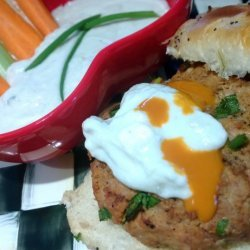 Buffalo Turkey Burgers With Blue Cheese Gravy - Rachael Ray