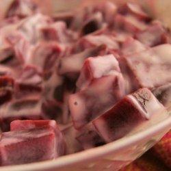 Beet Koshumbir - Beet Salad with yogurt