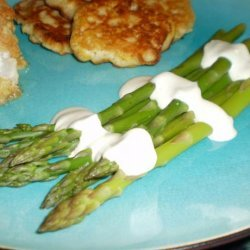 Asparagus With No-Cook Creamy Mustard Sauce
