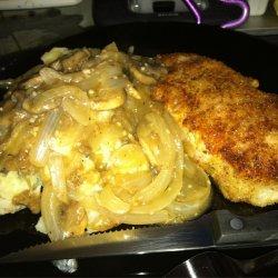 Pork Chops With Onion and Mushroom Gravy