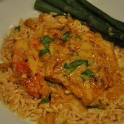 Romantic Chicken Scallopine With Saffron Cream Sauce