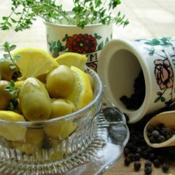 Peppery Citrus Olives recipe