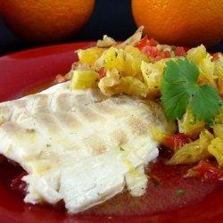 Sea Bass Steaks With Orange Salsa (Or Tuna)