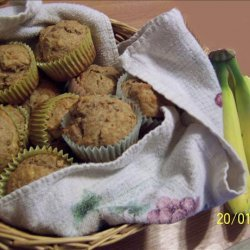 Moist and Healthy Banana Muffins