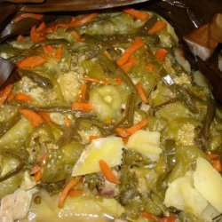 Slow Cooked Chicken With Tomatillos, Potatoes, Jalapenos and Fre