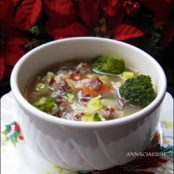 Broccoli and Rice Soup