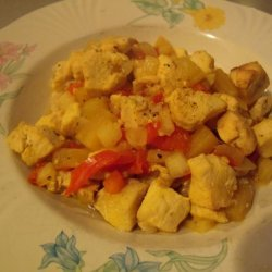 Sweet and Sour Curry Chicken for Slow Cooker