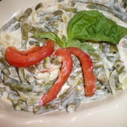 Loby (String/Green Beans With Sour Cream and Tomatoes)