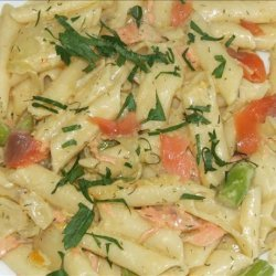 Penne With Asparagus and Smoked Salmon Cream recipe