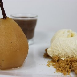 Poached Pears With Chocolate-Pear Sauce