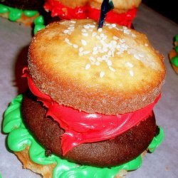 Cute Hamburger Cupcakes