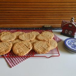 Giant Chewy Peanut Butter Cookies