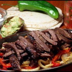 Southwestern Flat Iron Steak Fajitas