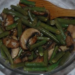 Sautéed Green Beans With Mushrooms