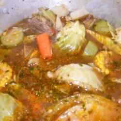 Caldo De Res (A Mexican Beef -Vegetable Soup)