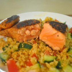 Spice-Crusted Salmon With Couscous Salmon