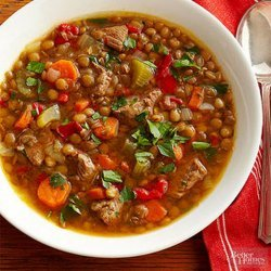Lentil Soup With Beef