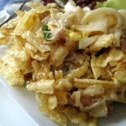 My Mom's Tuna Casserole With Potato Chips and Eggs recipe