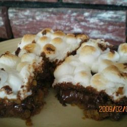 Warm Toasted Marshmallow S'more Bars (Cookie Mix)