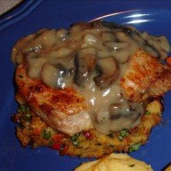 (Un)stuffed Pork Chops With Mushroom Sauce