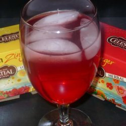 Lemon and Red Zinger Iced Tea recipe