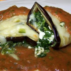 Eggplant Roll-Ups With Roasted Tomato Sauce